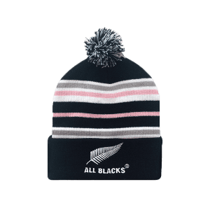 c96470e6592 All Blacks Tri Stripe Pom Pom Beanie