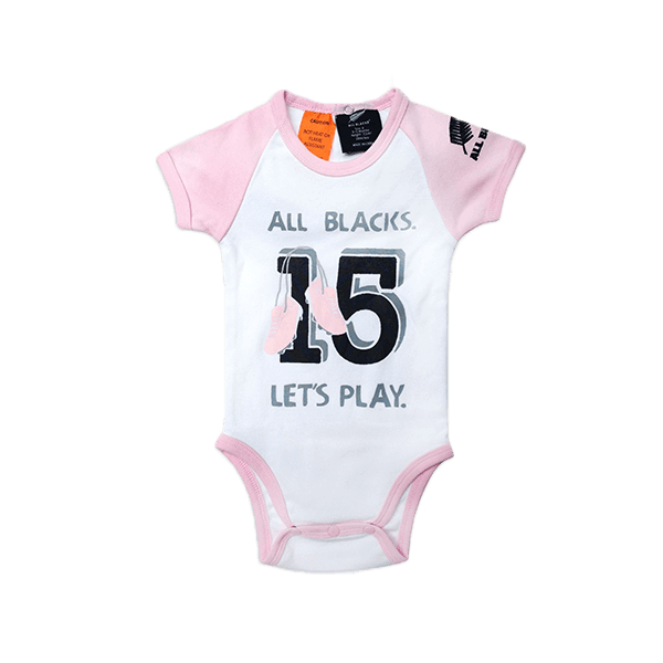 Infant Pink All Blacks Body Suit