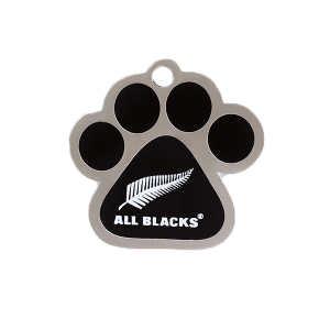 All Blacks Paw ID Tag