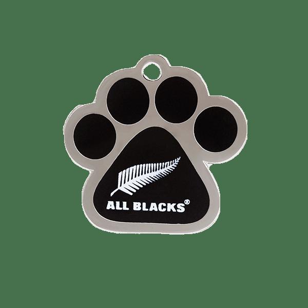 All Blacks Paw ID Tag