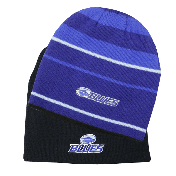 Blues Divergence Reversible Beanie