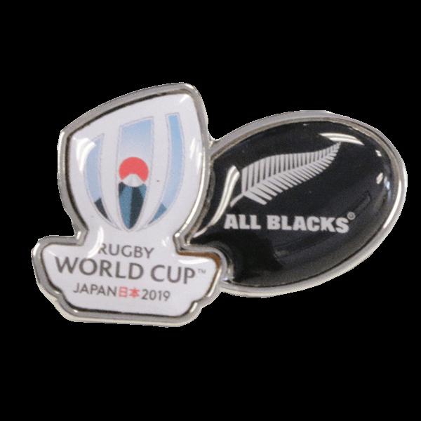 All Blacks RWC Logo Pin