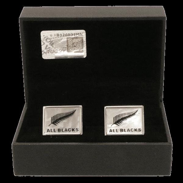 All Blacks Sterling Silver Fern (MOP) Cufflinks