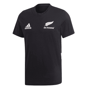 All Blacks 3-Stripe Cotton Tee