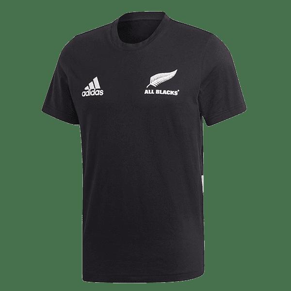 All Blacks 3-Stripe Cotton Tee