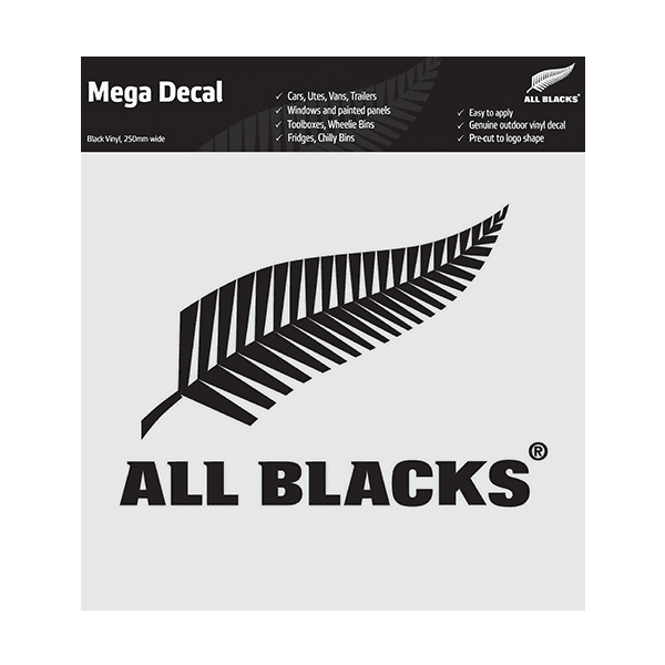 All Blacks Fern Mega Decal - Black
