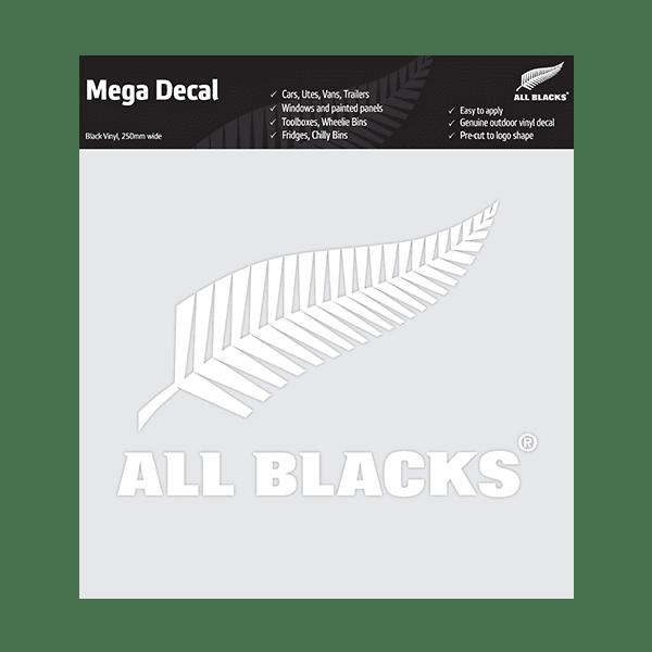 All Blacks Fern Mega Decal - White