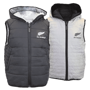 All Blacks Kids Reversible Puffa Vest