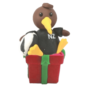 All Blacks Kiwi Player Xmas Decoration