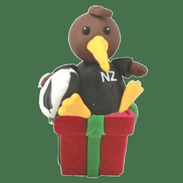 All Blacks Kiwi Player Xmas Decoration