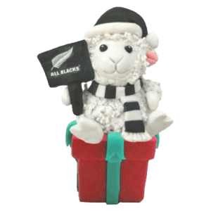 All Blacks Sheep Xmas Decoration