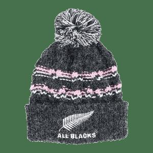 All Blacks Kids Cable Knit Pom Pom Beanie