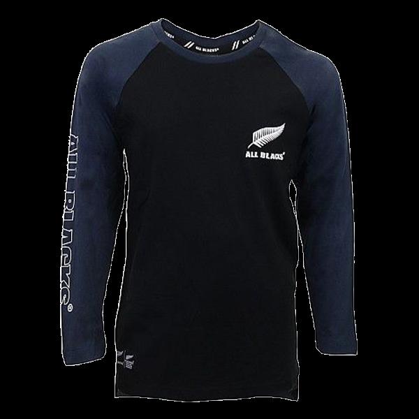 All Blacks Blue Long Sleeve T Shirt