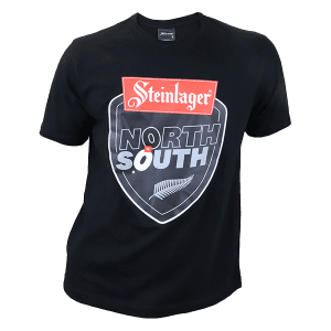 North vs South Supporters Black Logo T Shirt