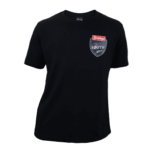 North vs South Supporters Black Small Logo T Shirt